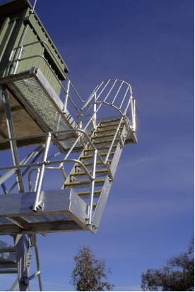 Stewards tower safety ladder cages